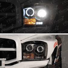 halo headlights for dodge ram 1500 2006 2007 2008 dodge ram 1500 2500 3500 black halo projector