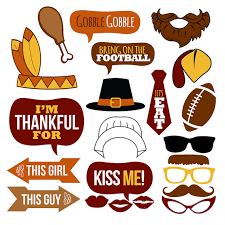 thanksgiving props thanksgiving photo booth props collectionprintable instant