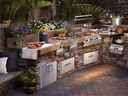 outdoor kitchen island design u shaped stone outdoor island