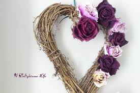 dried roses rustic wreath