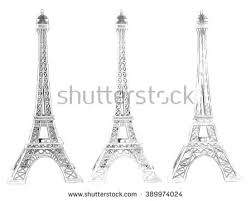 sketch of the paris eiffel tower stock images royalty free images