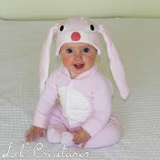 Bunny Halloween Costume Toddler Size 3 6m Pale Pink Bunny Rabbit Baby Onesie Costume Hat