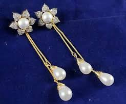sui dhaga earrings design american diamond sui dhaga earrings bpj172 ebay mobile