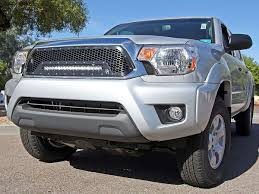 toyota tacoma blacked out 2012 2015 toyota tacoma led grille black rigid industries