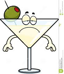 martini glasses clipart sad cartoon martini stock vector image of clipart vector 47360675