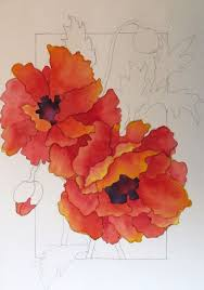 Tutorials By A Watercolor Workshop Painting Red Poppies Step By Step Tutorial