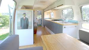 Vintage Airstream Interior by This Family Checked Out Of The Daily Grind And Took Up Life On The