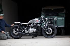 inazuma café racer gs750l by tin shack restoration café racer