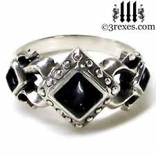 gothic rings images Royal princess gothic engagement ring 3 rexes jewelry jpg