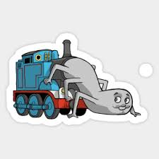 Thomas The Tank Engine Meme - thomas tank engine stickers teepublic