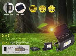 cat 324122 rechargeable led work light solar portable rechargeable floodlight led work pocket light 10w