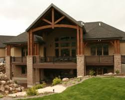 Lakefront Home Floor Plans House Plan Lake Cabin Plans With Walkout Basement Walkout