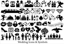 wedding invitation symbols free vector wedding icons and symbols 123freevectors