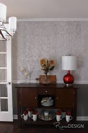 candice olson cork backed textured metallic wallpaper used on top