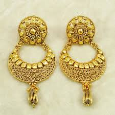 gold plated earrings drop dangle earrings with gold plated pattern traditional