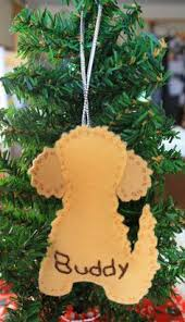 felt ornament goldendoodle by feltnostalgic on etsy