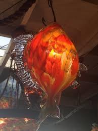 Pendant Lighting Fixture Fish Pendant Light Blown Glass Lighting Fixture Santa Barbara