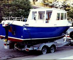 home built and fiberglass boat plans how to plywood ski trailerable lobster boat plans