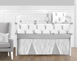 Jojo Design Bedding Sweet Jojo Designs Stag Grey And White Crib Bedding Collection