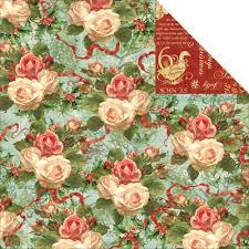 graphic 45 christmas rose paper