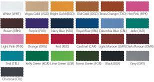 uniform color chart