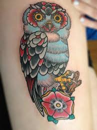 30 awesome traditional owl arm tattoos traditional tattoo owl
