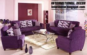 Living Room With Purple Sofa International Living Room Ideas With Purple Furniture 2014