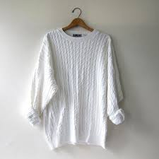 white sweater vintage white sweater oversized from birdies
