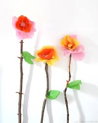 Making Flowers Out Of Tissue Paper For Kids - things to make and do crafts and activities for kids the crafty