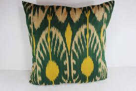 Cotton Ikat Pillow Ikat Pillow Cover C105 Ikat Throw Pillows