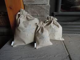 medium reusable christmas gift bag hemp organic snowflake tree