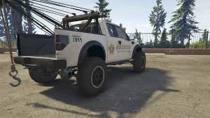 Ford Raptor Police Truck - police raptor lifted towtruck gta5 mods com