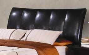 faux leather throw pillows finish modern bedroom w faux leather upholstered bed