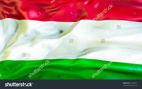 hungary flag 3d waving flag design stock illustration 631599977