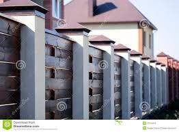 fence and the modern house stock photos image 23124663