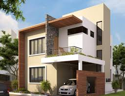 exterior minimalist house exterior with cream house paint with