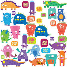 amazon com roommates rmk1472scs monsters peel u0026 stick wall decals
