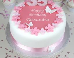Personalised Flowers Birthday Cake Decorating Kit