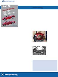 audi tt 2000 2006 repair manual table of contents documents