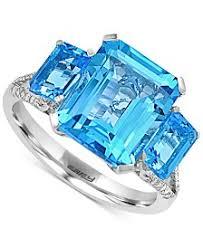 blue topaz engagement rings blue topaz rings macy s