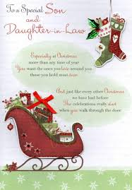 special son u0026 daughter in law christmas greeting card cards