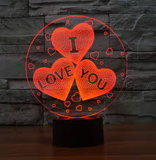 valentines day lights illusion i you for s day gift 3d led lights 7