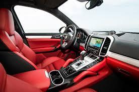 jeep red interior used porsche cayenne red interior porsche cayenne turbo s cartype