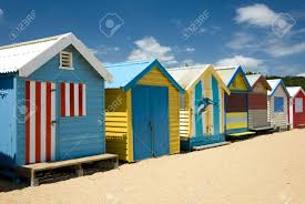 beach houses on brighton beach melbourne victoria australia