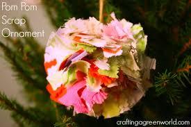 diy ornaments fabric scrap pom pom