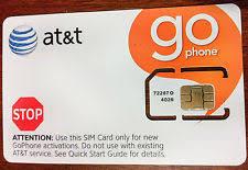 ready prepaid card at t sim card prepaid go phone ready to activate standard size