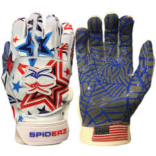 Flag Football Gloves New Color Spiderz Web Batting Gloves Usa Star U2013 Spiderz Sports