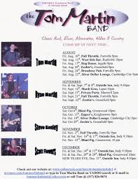 The Blind Pig Greenwood Indiana Tom Martin Band Band In Indianapolis In Bandmix Com