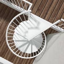 white metal spiral staircase u2014 railing stairs and kitchen design