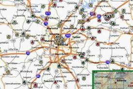 map of atlanta metro area metro atlanta estate